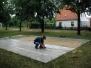 Aufbau der Tanzfläche